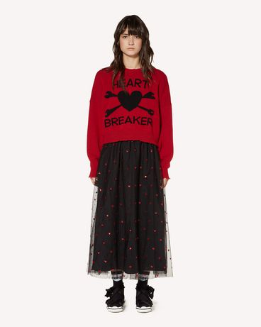 REDValentino SR3RA00J4CN 0NO Long and midi skirts Woman f