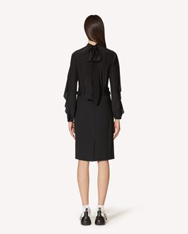 REDValentino Stretch viscose wool gabardine pencil skirt