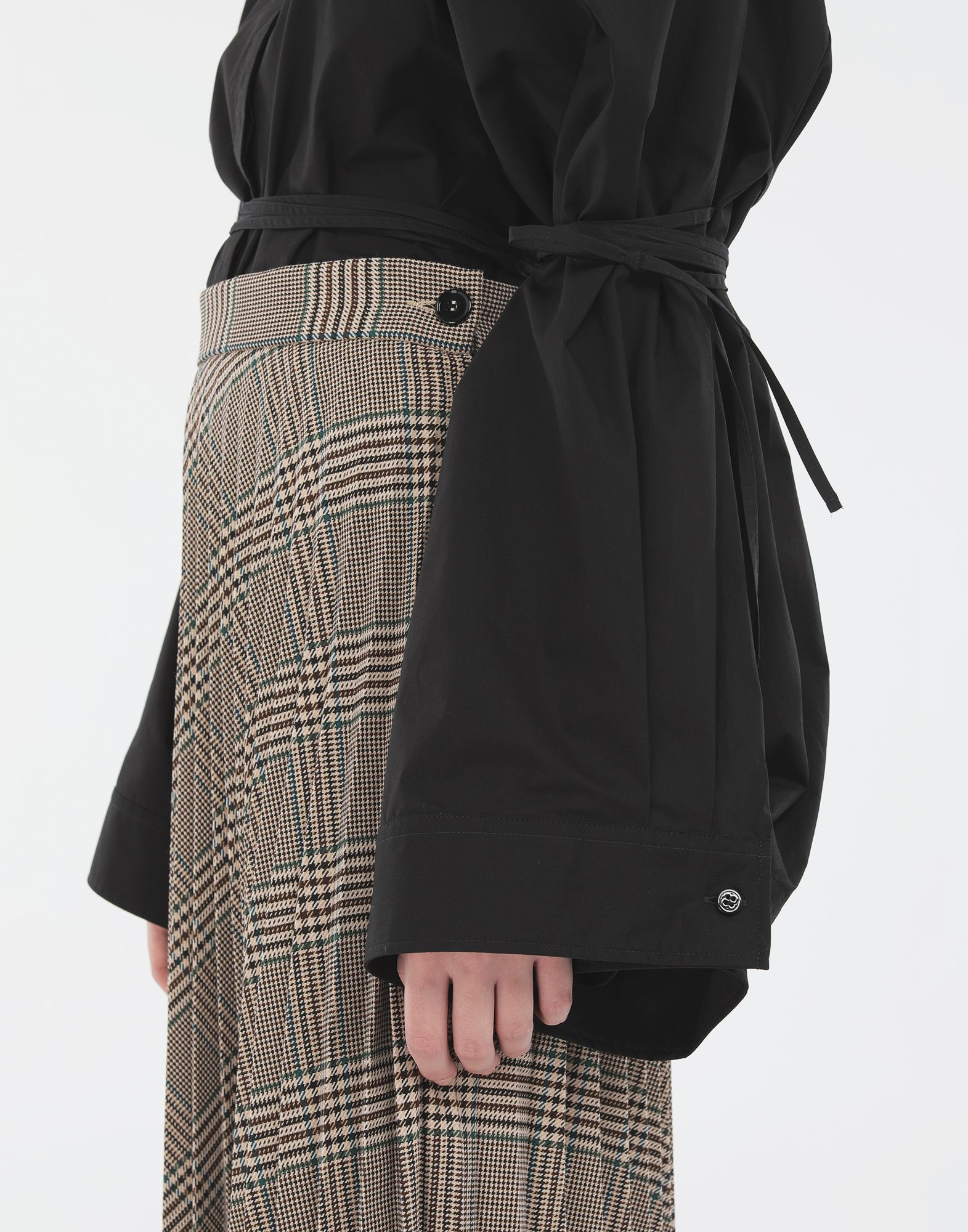 MM6 MAISON MARGIELA Checked pleated skirt 3/4 length skirt Woman a