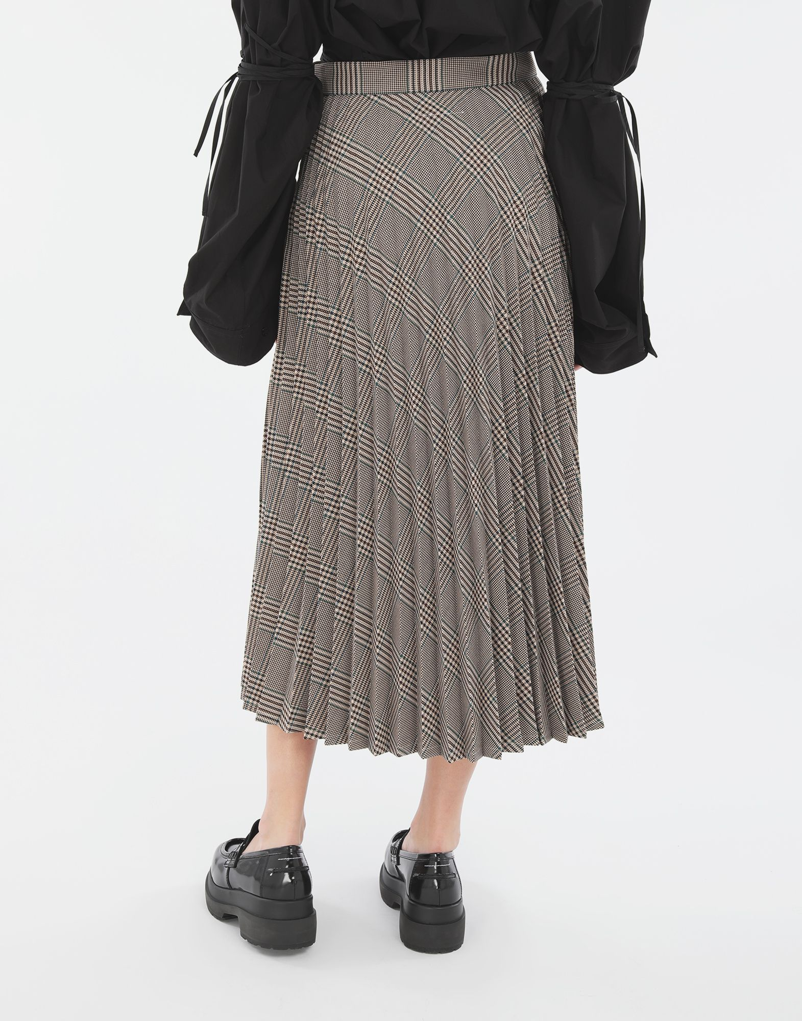 MM6 MAISON MARGIELA Checked pleated skirt 3/4 length skirt Woman e