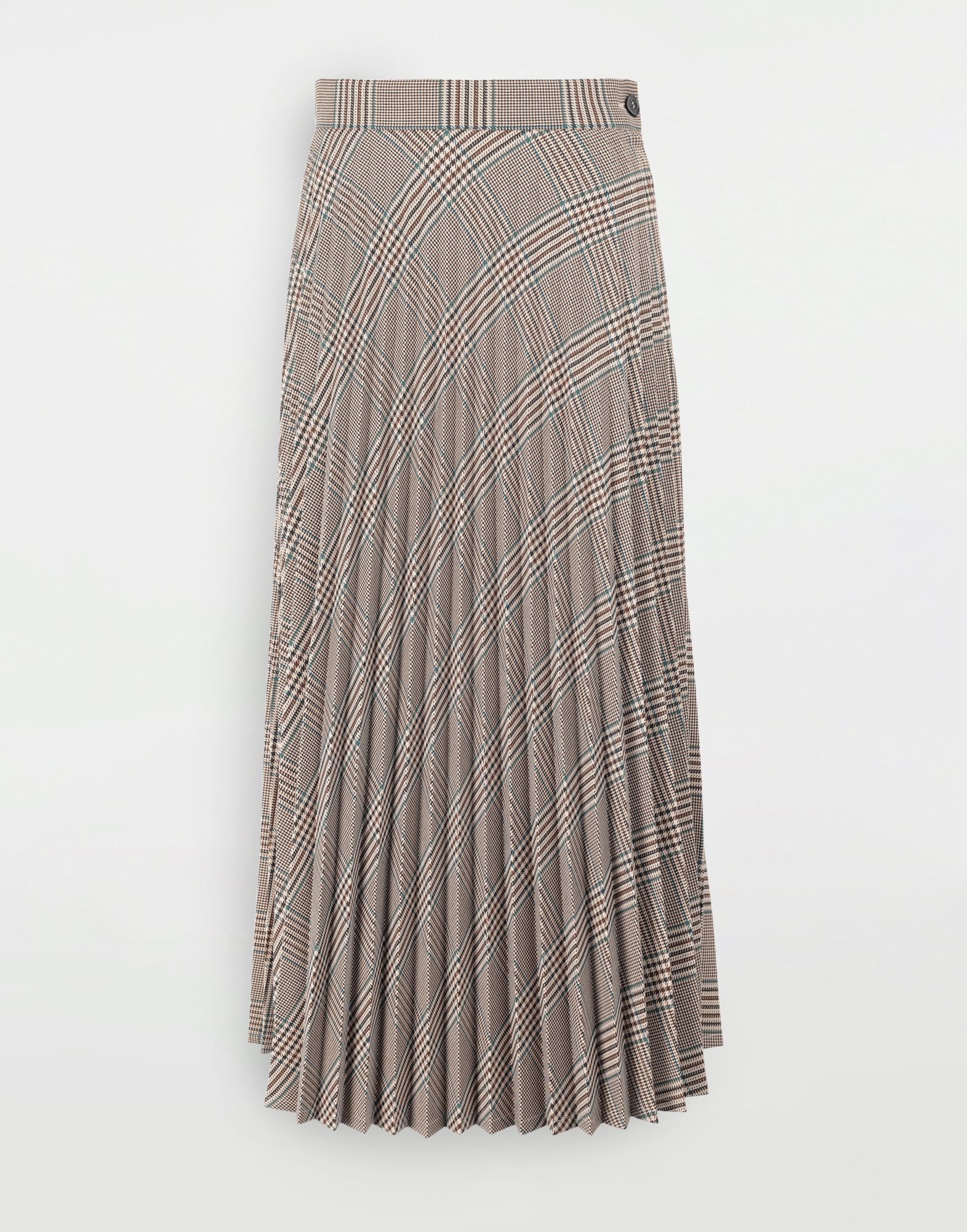 MM6 MAISON MARGIELA Checked pleated skirt 3/4 length skirt Woman f