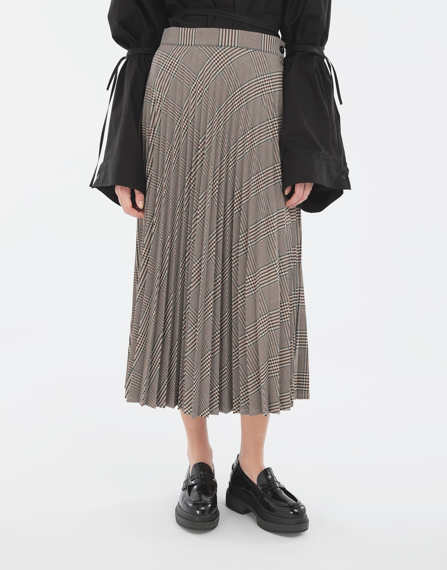 MM6 MAISON MARGIELA Checked pleated skirt Skirt Woman r