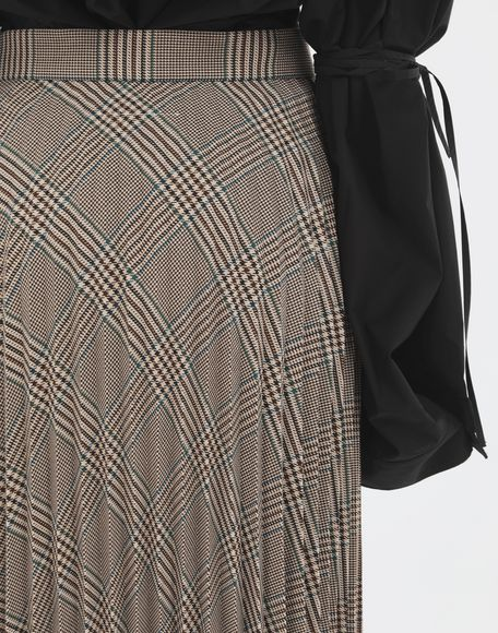 MM6 MAISON MARGIELA Checked pleated skirt 3/4 length skirt Woman b
