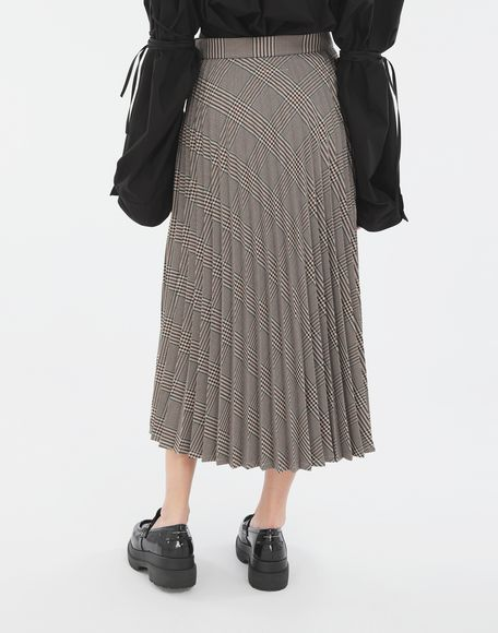 MM6 MAISON MARGIELA Checked pleated skirt Skirt Woman e