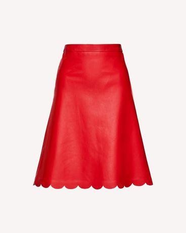 REDValentino SR3NI00F4BL D05 Midi Skirt Woman a
