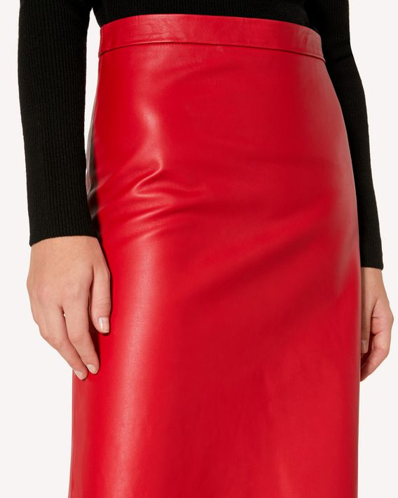 e9fc67546f REDValentino Scallop Detail Leather Skirt - Midi Skirt for Women ...