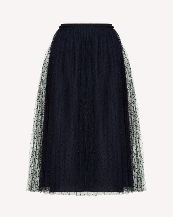 REDValentino Pleated tulle point d'esprit skirt