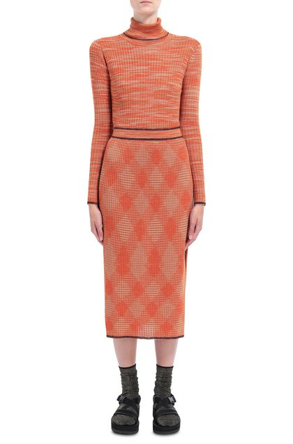 M MISSONI Rock Orange Dame - Rückseite