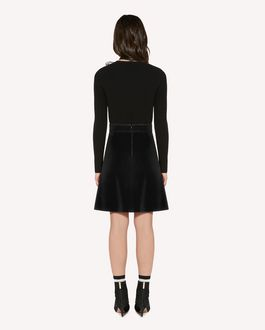 REDValentino  Stretch frisottine skirt with zagana detail
