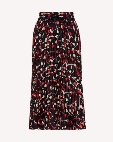 REDValentino SR3RAB8549S 0NO Midi Skirt Woman a