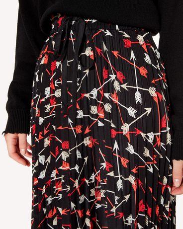 REDValentino SR3RAB8549S 0NO Midi Skirt Woman e