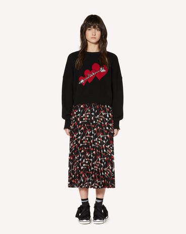 REDValentino SR3RAB8549S 0NO Long and midi skirts Woman f