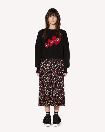 REDValentino SR3RAB8549S 0NO Midi Skirt Woman f