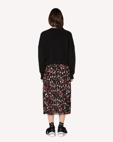 REDValentino SR3RAB8549S 0NO Long and midi skirts Woman r