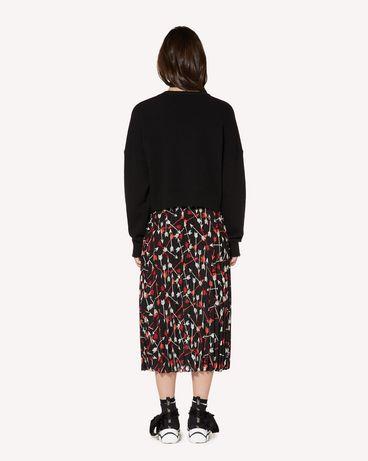 REDValentino SR3RAB8549S 0NO Midi Skirt Woman r