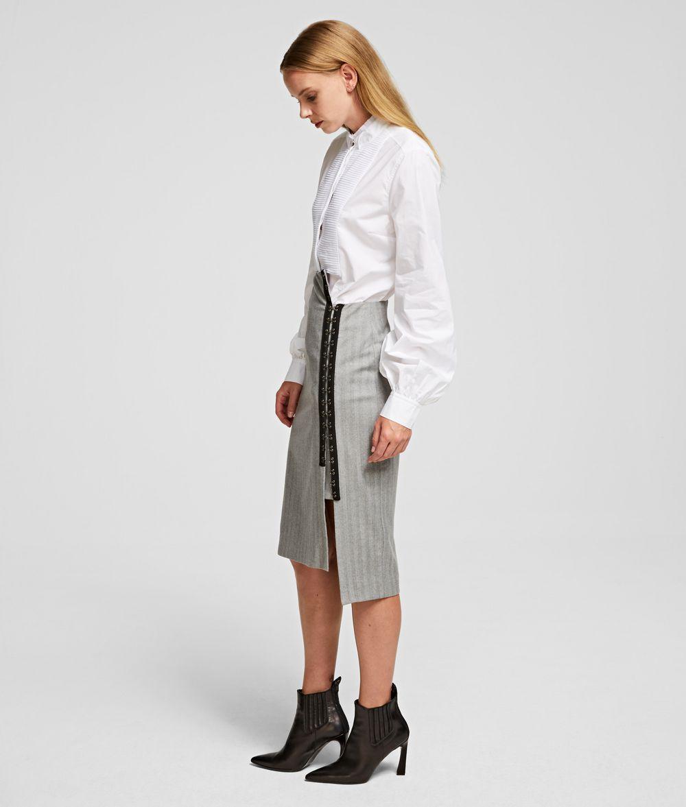 KARL LAGERFELD Hook & Eye Pencil Skirt Skirt Woman d