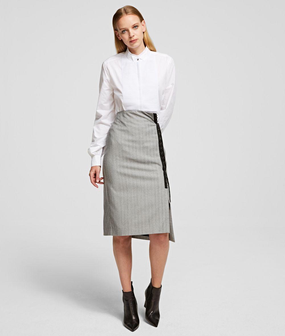 KARL LAGERFELD Hook & Eye Pencil Skirt Skirt Woman f