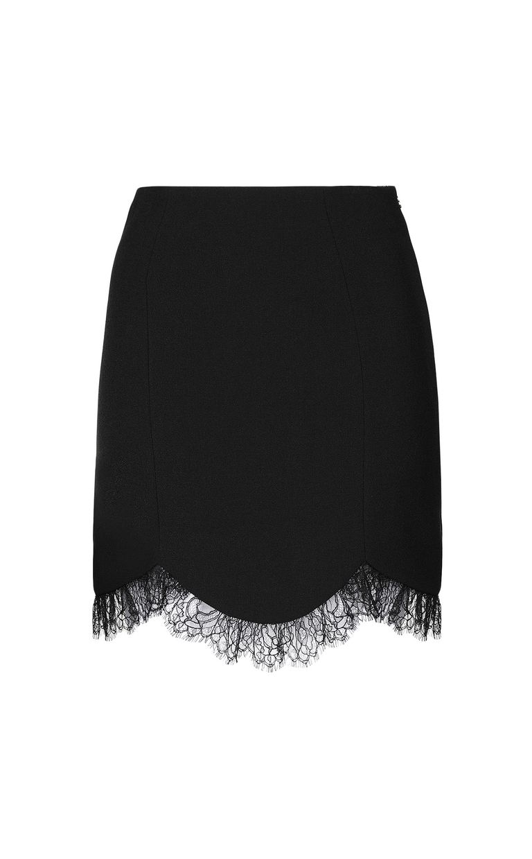 JUST CAVALLI Mini skirt with lace Skirt Woman f