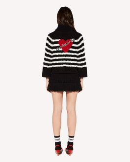 REDValentino Fringes detail wool cashmere  mini skirt