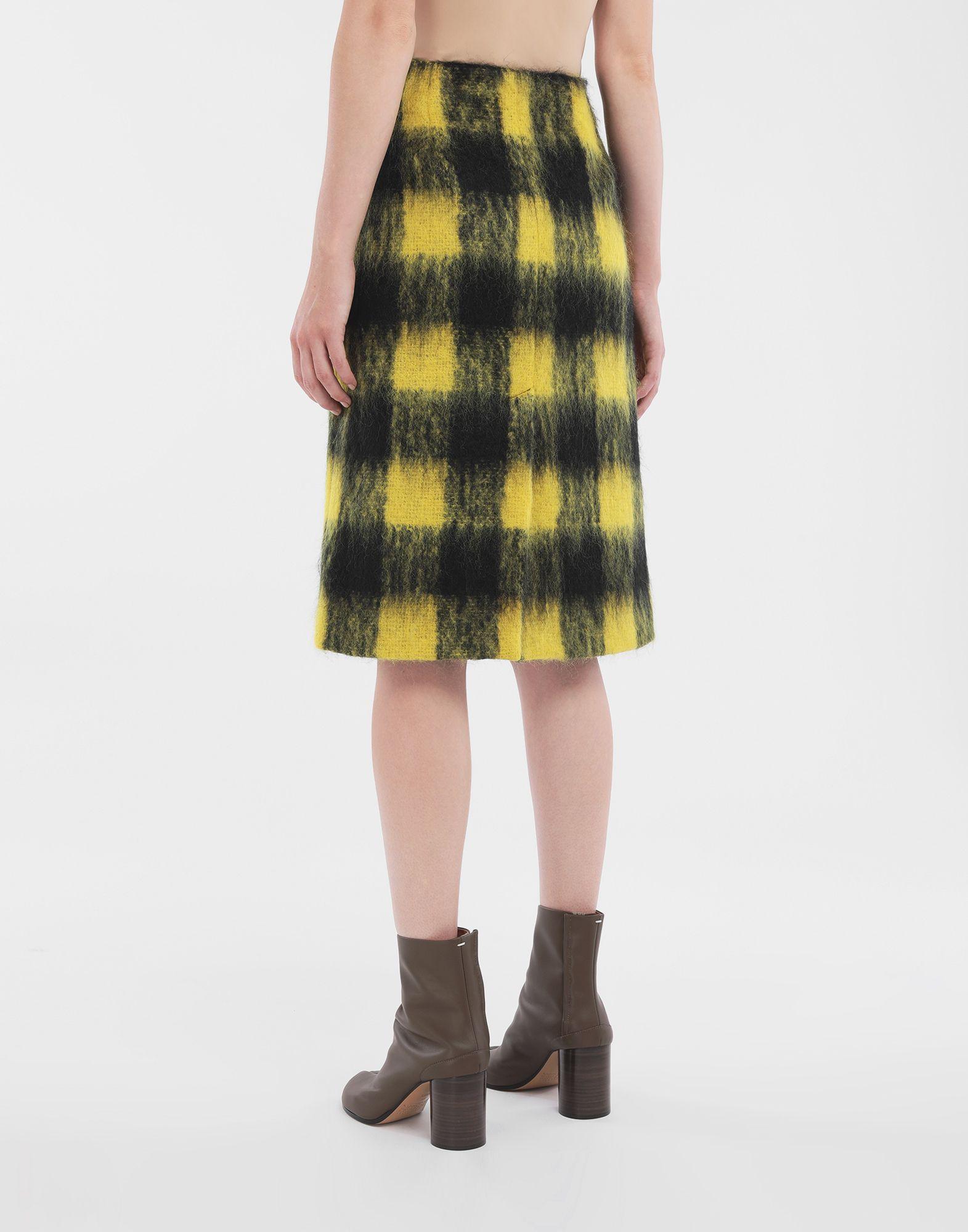 MAISON MARGIELA Mohair check skirt 3/4 length skirt Woman e