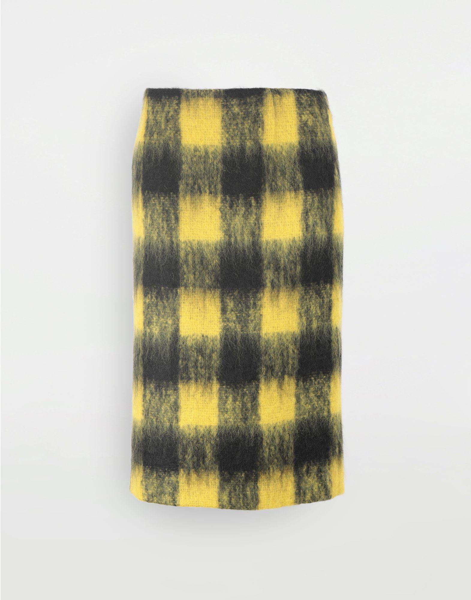 MAISON MARGIELA Mohair check skirt 3/4 length skirt Woman f