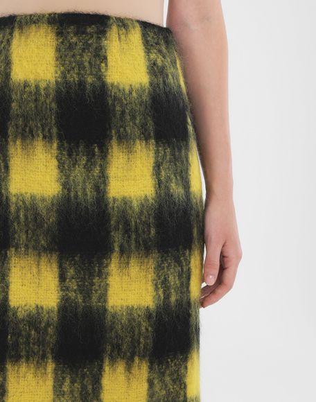 MAISON MARGIELA Mohair check skirt 3/4 length skirt Woman a