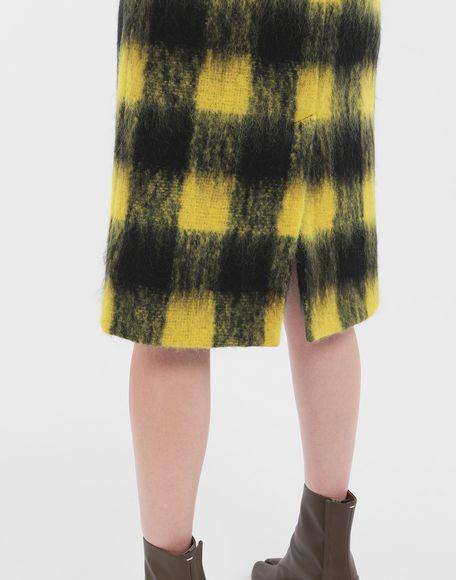 MAISON MARGIELA Mohair check skirt 3/4 length skirt Woman b