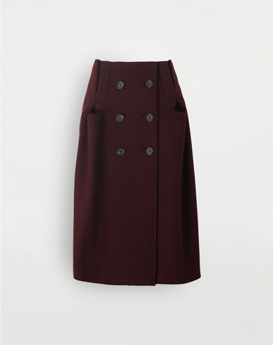 SKIRTS Reworked wool skirt Maroon