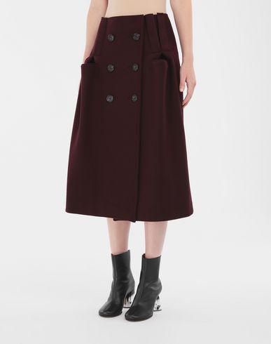 SKIRTS Reworked wool skirt Maroon