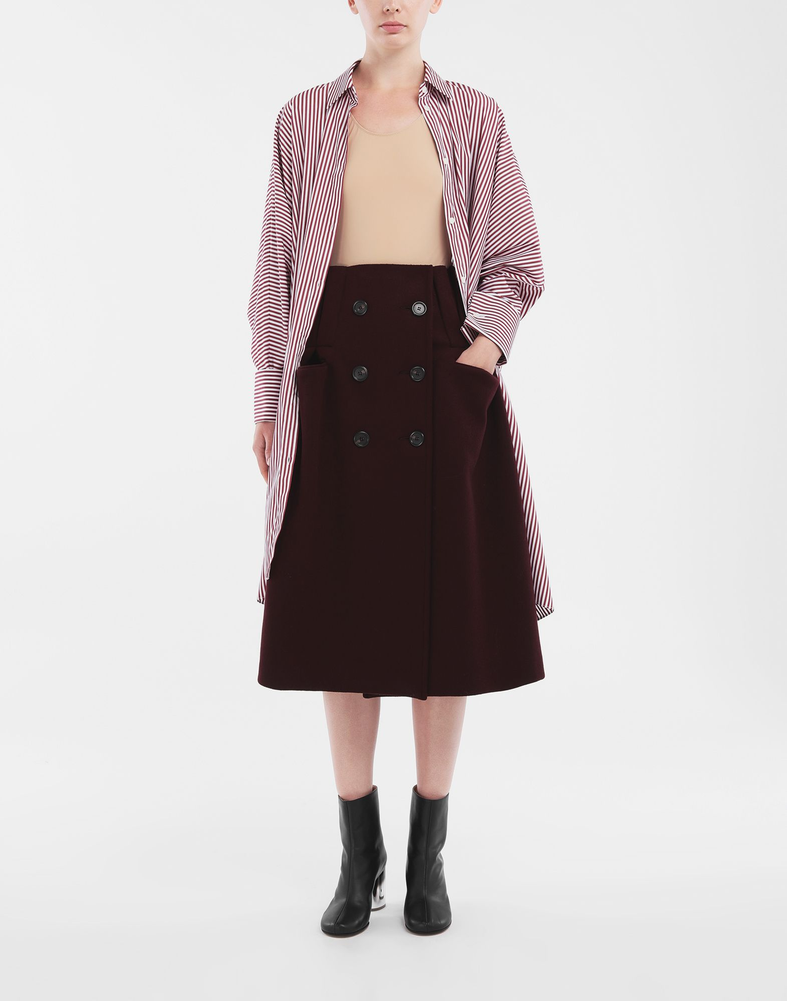 MAISON MARGIELA Reworked wool skirt 3/4 length skirt Woman d