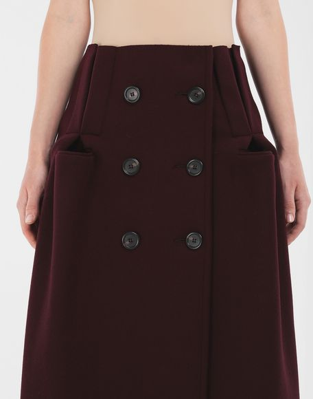 MAISON MARGIELA Reworked wool skirt 3/4 length skirt Woman a