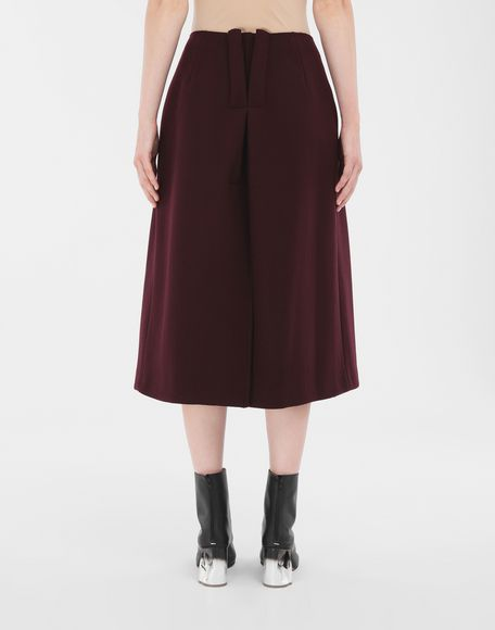 MAISON MARGIELA Reworked wool skirt 3/4 length skirt Woman e