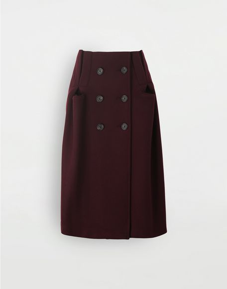 MAISON MARGIELA Reworked wool skirt 3/4 length skirt Woman f