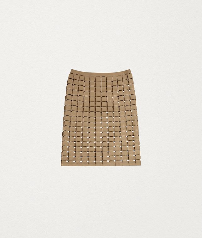 BOTTEGA VENETA SKIRT IN RUBBER SATINÉ Skirt Woman fp