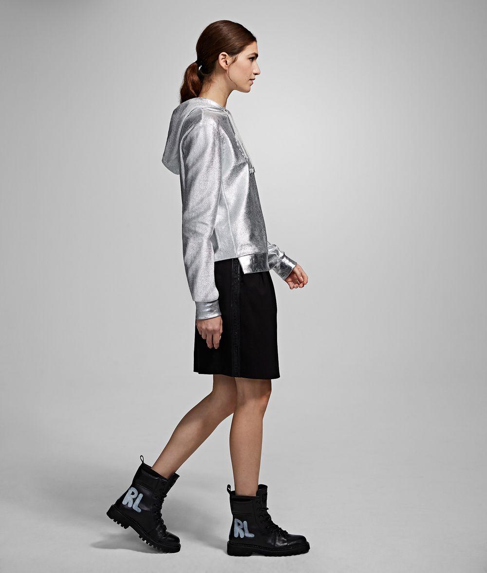 KARL LAGERFELD Logo Ponte Skirt Skirt Woman d