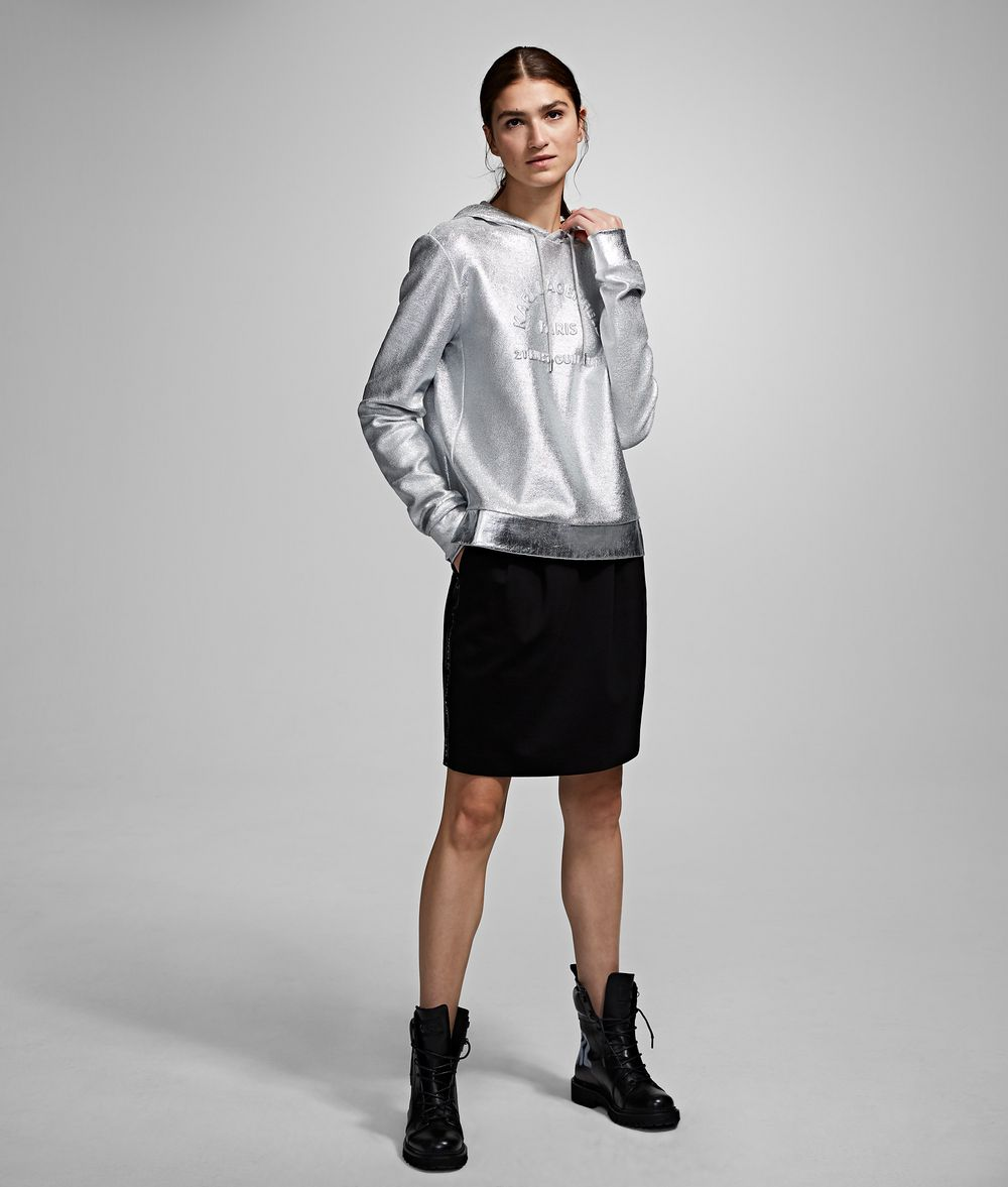 KARL LAGERFELD Logo Ponte Skirt Skirt Woman f