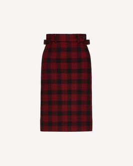 REDValentino Wool prince of wales pencil skirt