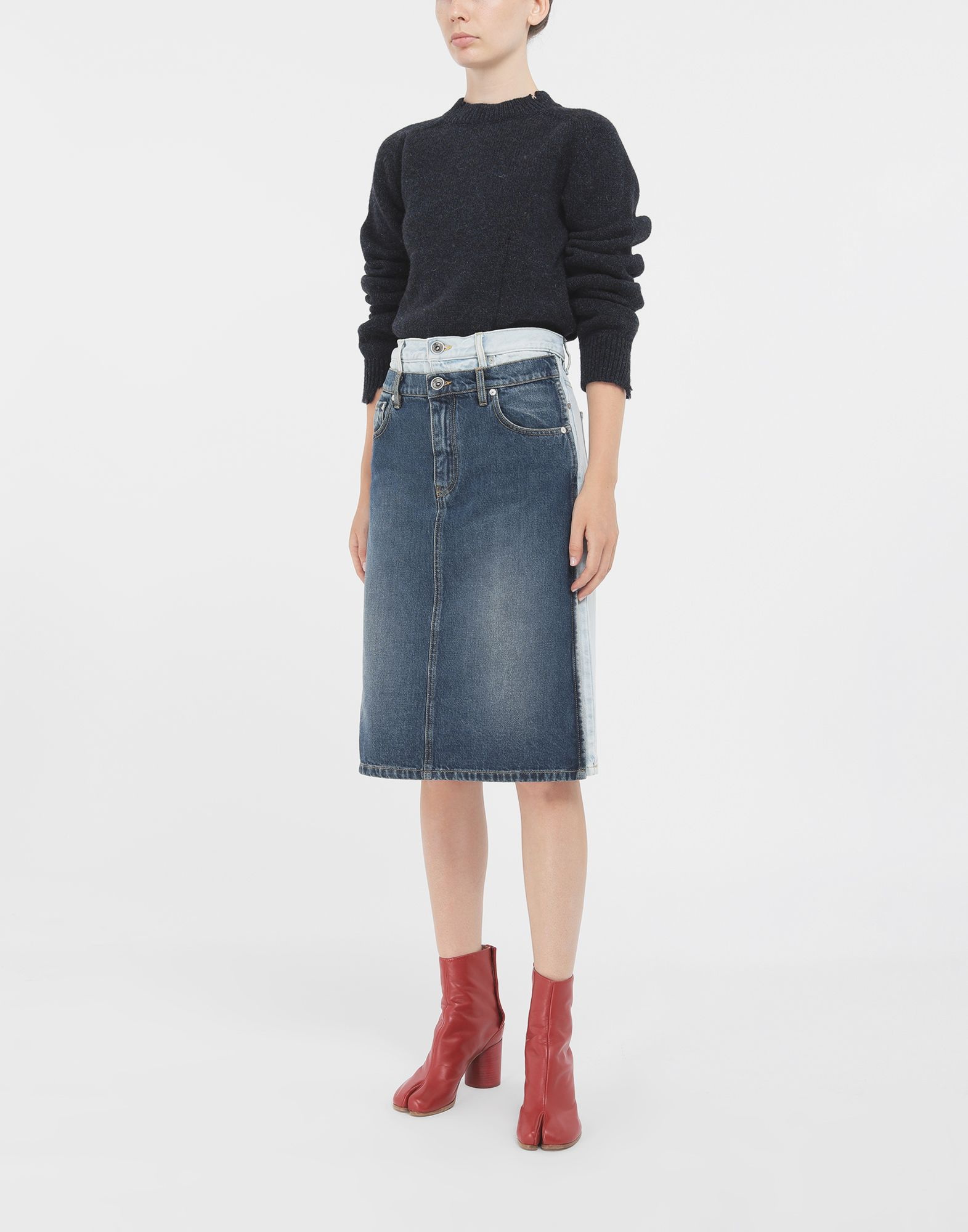 MAISON MARGIELA Spliced skirt 3/4 length skirt Woman d