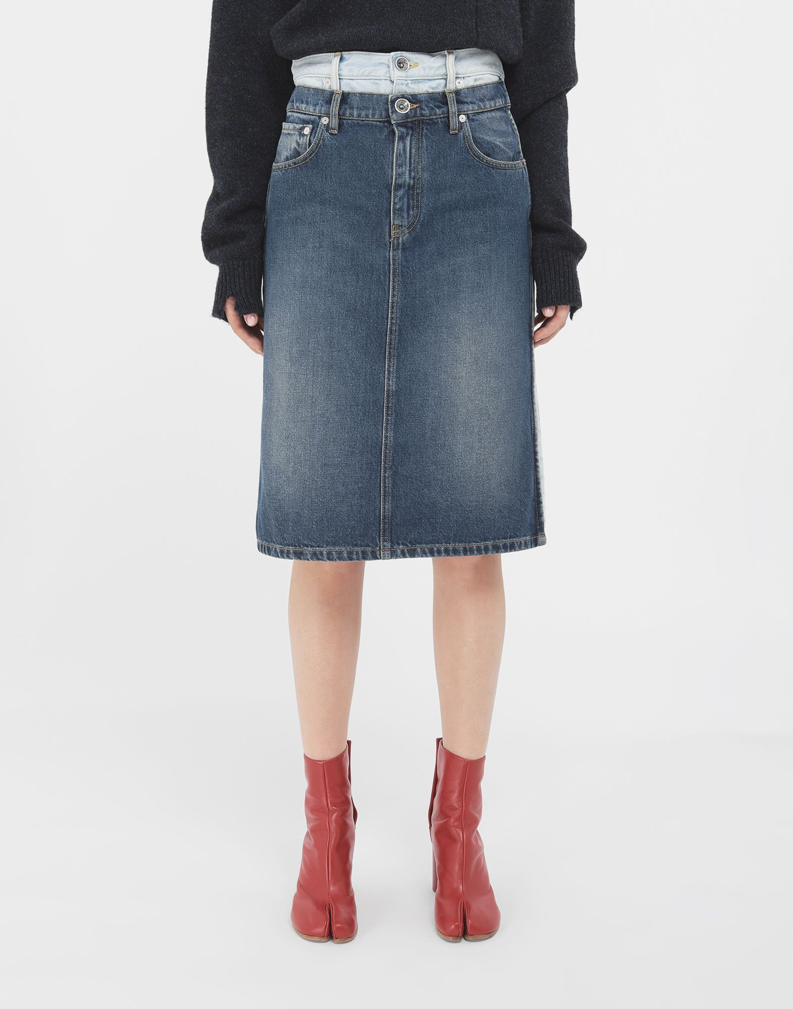 MAISON MARGIELA Spliced skirt 3/4 length skirt Woman r