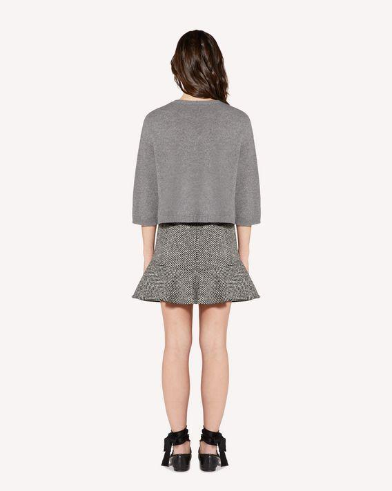 REDValentino Macro wool chevron skirt