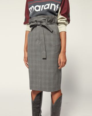 ISABEL MARANT ÉTOILE MIDI SKIRT Woman VENDEL SKIRT r
