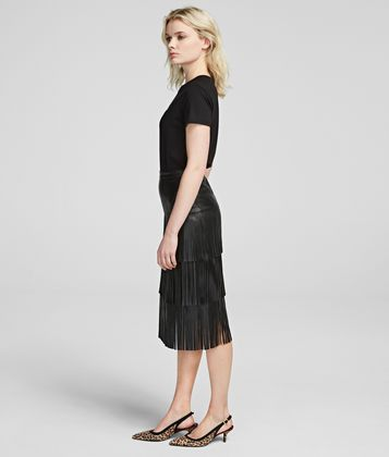 KARL LAGERFELD FRINGED SKIRT