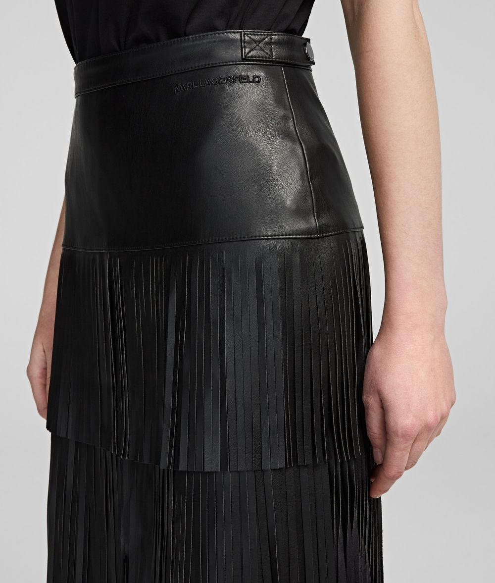 KARL LAGERFELD Fringed Skirt Skirt Woman d