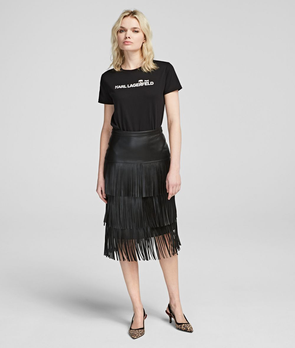 KARL LAGERFELD Fringed Skirt Skirt Woman f