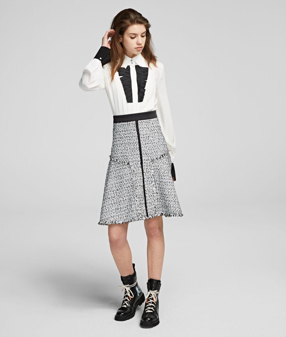 KARL LAGERFELD Bouclé Skirt Skirt Woman f