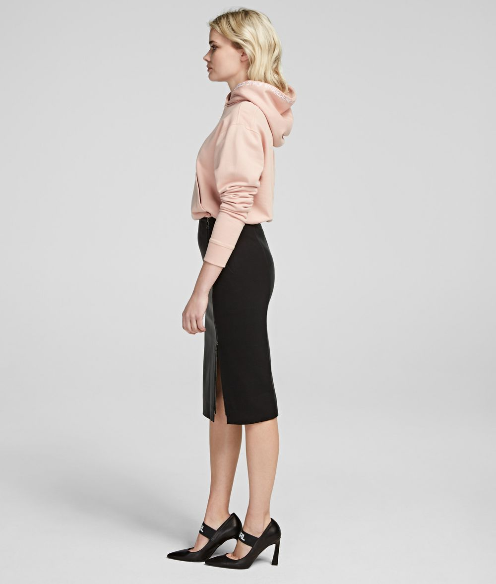 KARL LAGERFELD Leather Pencil Skirt Skirt Woman d