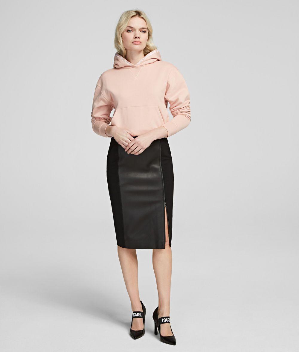 KARL LAGERFELD Leather Pencil Skirt Skirt Woman f