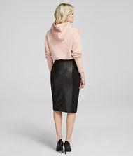 KARL LAGERFELD Leather Pencil Skirt 9_f