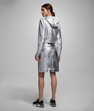 KARL LAGERFELD Silver-Coated Skirt 9_f