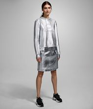 KARL LAGERFELD Skirt Woman Silver-Coated Skirt f